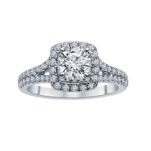 SVS Signature 101© 14K White Gold Engagement Ring SVS Fine Jewelry Oceanside, NY