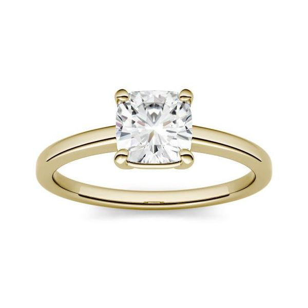 14K Yellow Gold & Moissanite Engagement Ring, Size 7 SVS Fine Jewelry Oceanside, NY