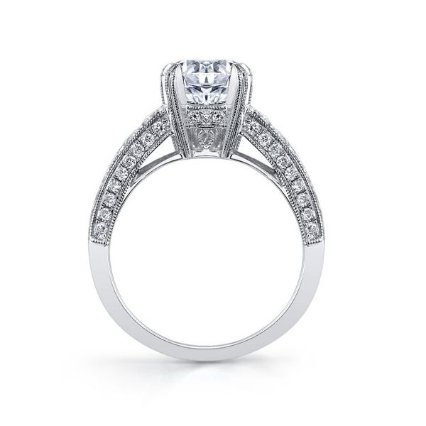 White Gold Diamond Engagement Ring Image 2  ,