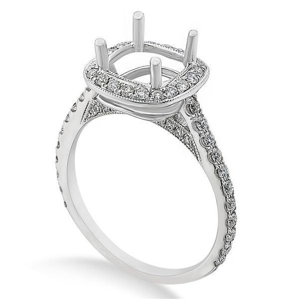 White Gold Diamond Engagement Ring Image 3  ,