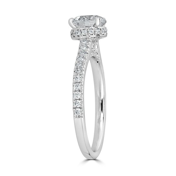 14K White Gold Diamond Engagement Ring Image 2  ,