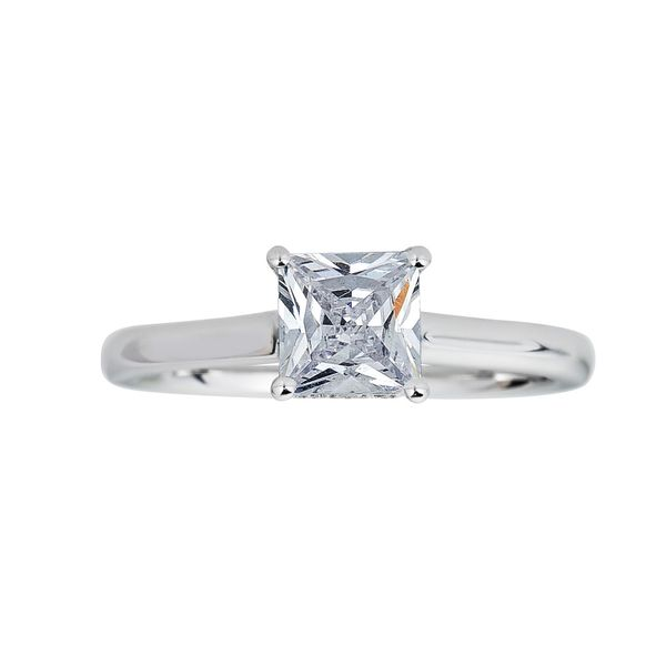 14K White Gold Diamond Engagement Ring Image 3 SVS Fine Jewelry Oceanside, NY