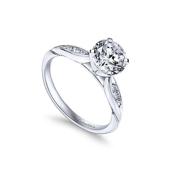 Gabriel & Co. Quinn 14K White Gold Engagement Ring Image 2 SVS Fine Jewelry Oceanside, NY