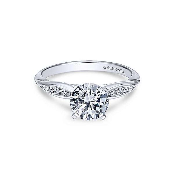 Gabriel & Co. Quinn 14K White Gold Engagement Ring SVS Fine Jewelry Oceanside, NY