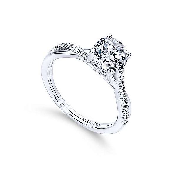 Gabriel & Co. Leigh 14K White Gold Engagement Ring Image 2 SVS Fine Jewelry Oceanside, NY
