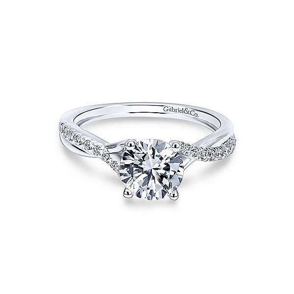 Gabriel & Co. Leigh 14K White Gold Engagement Ring SVS Fine Jewelry Oceanside, NY
