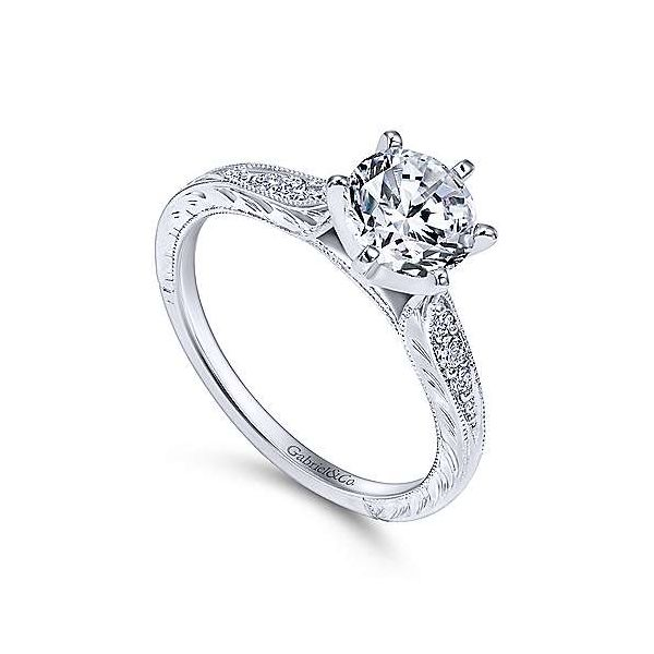 Gabriel & Co. Kate 14K White Gold Engagement Ring Image 2 SVS Fine Jewelry Oceanside, NY