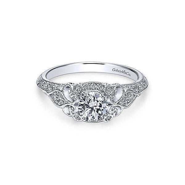 Gabriel & Co. Abel 14K White Gold Engagement Ring SVS Fine Jewelry Oceanside, NY