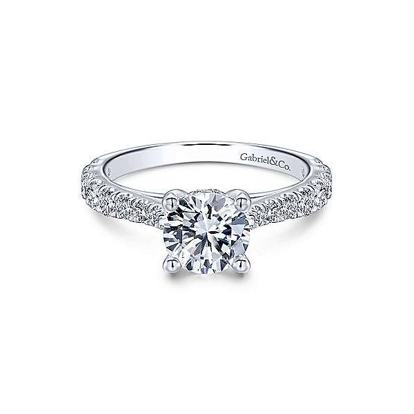 Gabriel & Co. Avery 14K White Gold Engagement Ring SVS Fine Jewelry Oceanside, NY