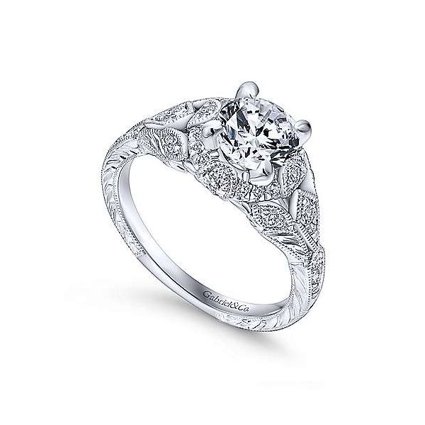 Gabriel & Co. Annadale 14K White Gold Engagement Ring Image 2 SVS Fine Jewelry Oceanside, NY