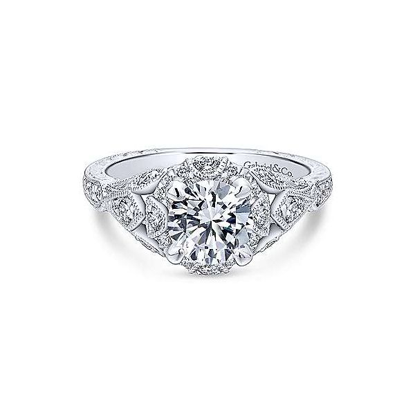 Gabriel & Co. Annadale 14K White Gold Engagement Ring SVS Fine Jewelry Oceanside, NY