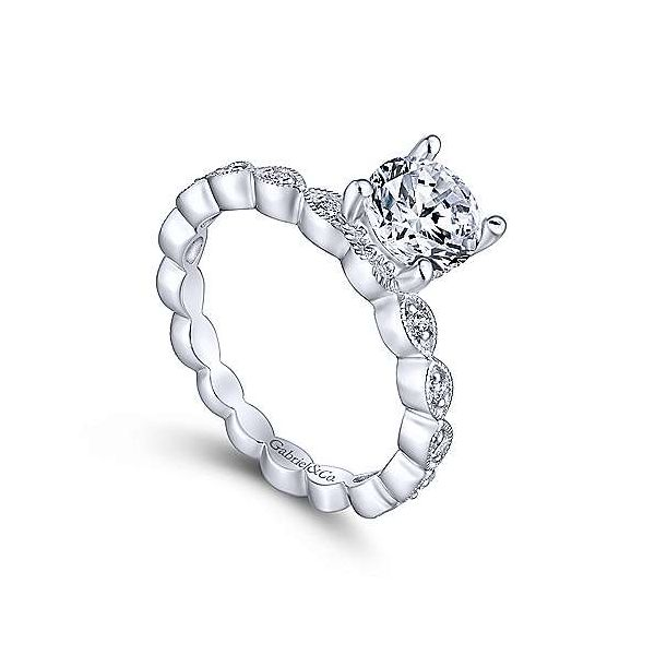 Gabriel & Co. Lula 14K White Gold Engagement Ring Image 2 SVS Fine Jewelry Oceanside, NY