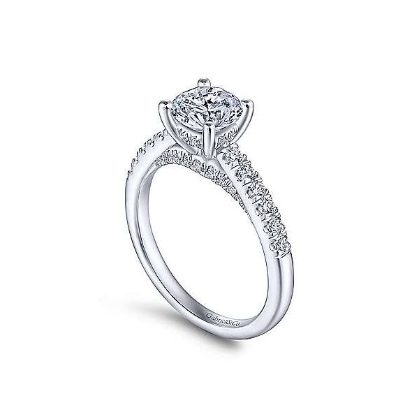 Gabriel & Co. Jones 14K White Gold Engagement Ring Image 2 SVS Fine Jewelry Oceanside, NY