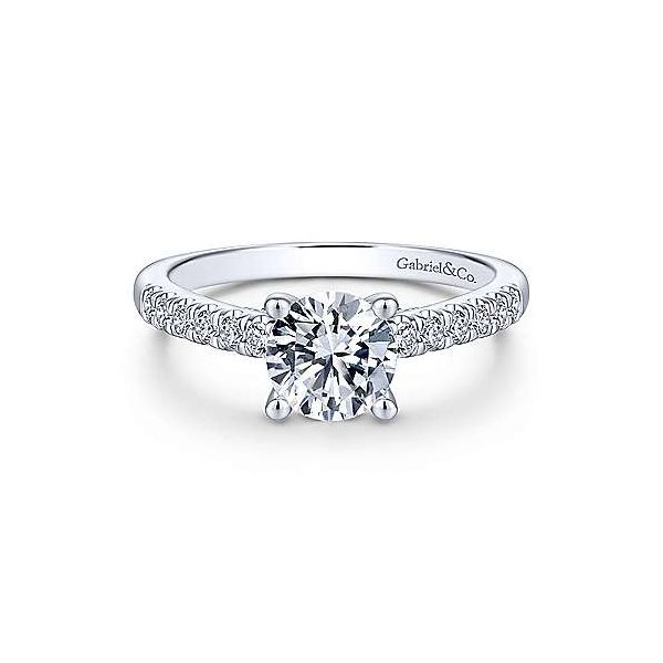 Gabriel & Co. Jones 14K White Gold Engagement Ring SVS Fine Jewelry Oceanside, NY