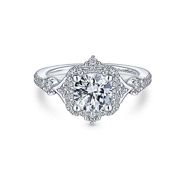 Gabriel & Co. Veronique 14K White Gold Engagement Ring SVS Fine Jewelry Oceanside, NY