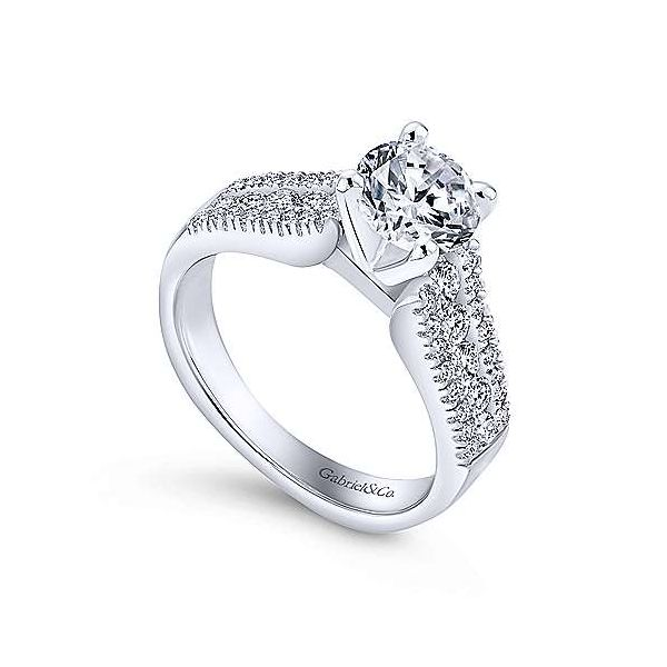 Gabriel & Co. Channing 14K White Gold Engagement Ring Image 2 SVS Fine Jewelry Oceanside, NY