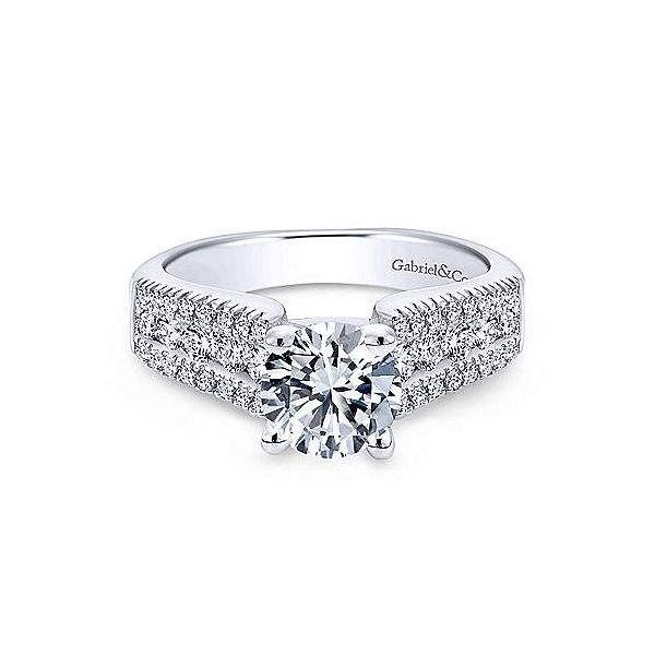 Gabriel & Co. Channing 14K White Gold Engagement Ring SVS Fine Jewelry Oceanside, NY