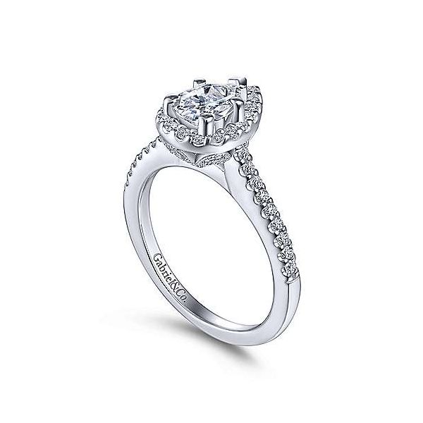 Gabriel & Co. Paige 14K White Gold Engagement Ring Image 2 SVS Fine Jewelry Oceanside, NY
