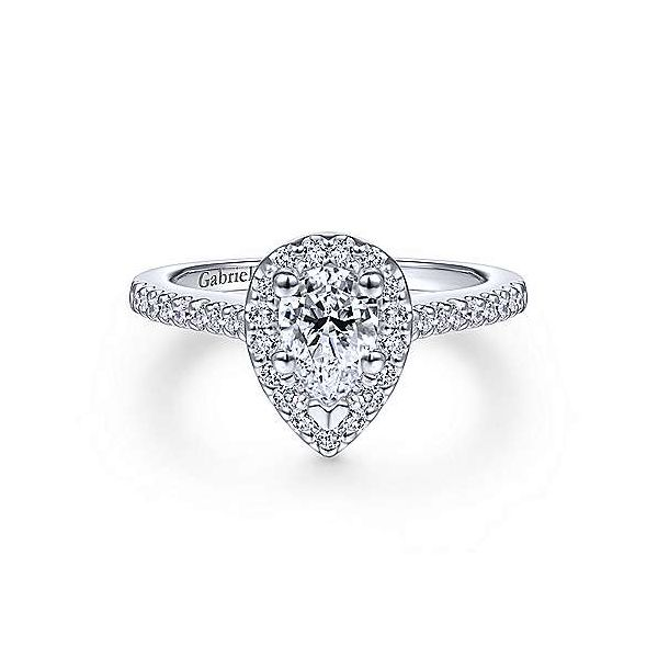 Gabriel & Co. Paige 14K White Gold Engagement Ring SVS Fine Jewelry Oceanside, NY