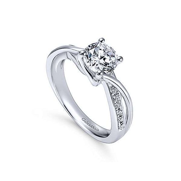 Gabriel & Co. Aleesa 14K White Gold Engagement Ring Image 2 SVS Fine Jewelry Oceanside, NY