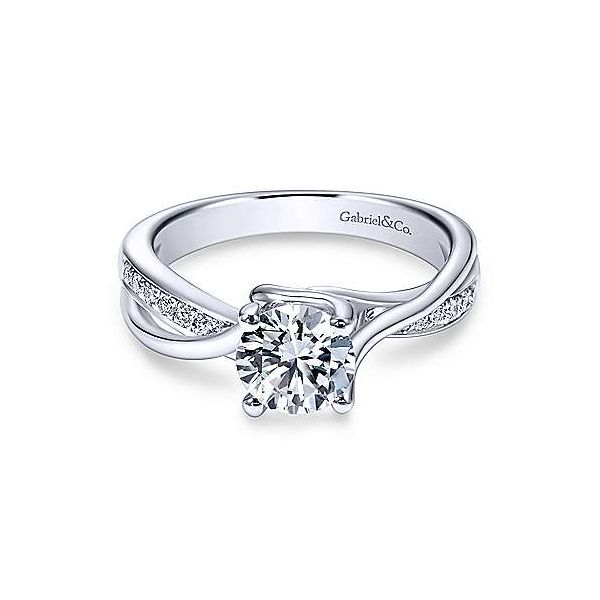 Gabriel & Co. Aleesa 14K White Gold Engagement Ring SVS Fine Jewelry Oceanside, NY