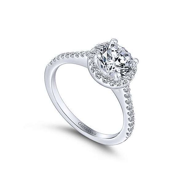 Gabriel & Co. Carly 14K White Gold Engagement Ring Image 2 SVS Fine Jewelry Oceanside, NY