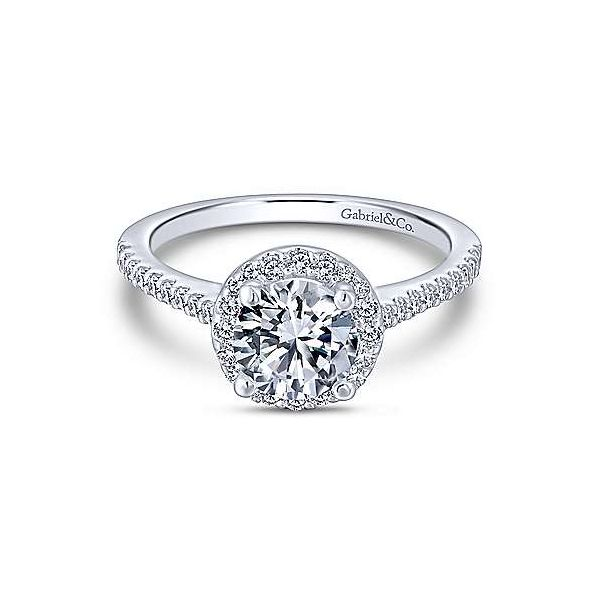 Gabriel & Co. Carly 14K White Gold Engagement Ring SVS Fine Jewelry Oceanside, NY