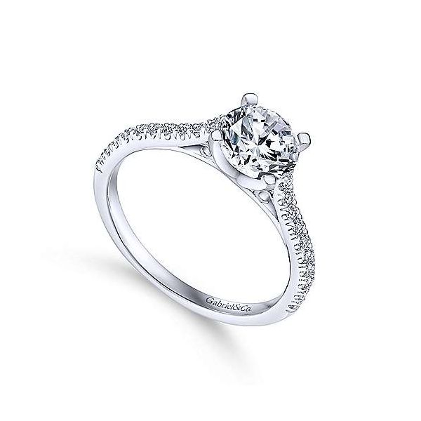 Gabriel & Co. Joanna 14K White Gold Engagement Ring Image 2 SVS Fine Jewelry Oceanside, NY