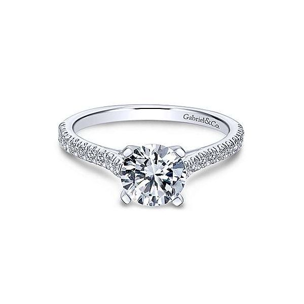 Gabriel & Co. Joanna 14K White Gold Engagement Ring SVS Fine Jewelry Oceanside, NY