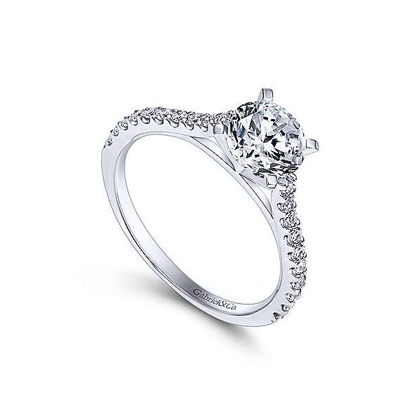 Gabriel & Co. Shanna 14K White Gold Engagement Ring Image 2 SVS Fine Jewelry Oceanside, NY