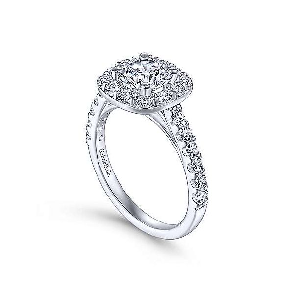 Gabriel & Co. Sklyar 14K White Gold Engagement Ring Image 2 SVS Fine Jewelry Oceanside, NY