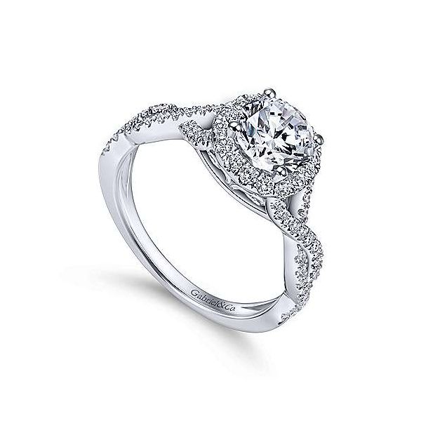 Gabriel & Co. Marissa 14K White Gold Engagement Ring Image 2 SVS Fine Jewelry Oceanside, NY