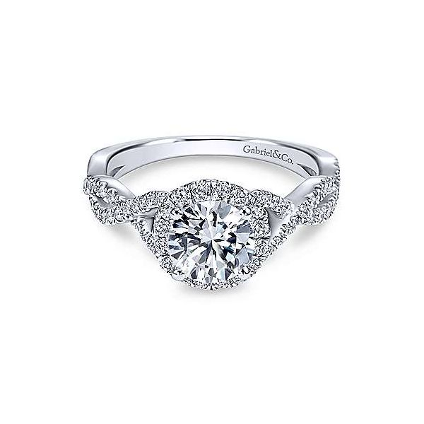 Gabriel & Co. Marissa 14K White Gold Engagement Ring SVS Fine Jewelry Oceanside, NY