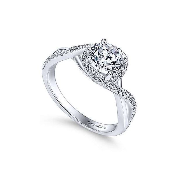 Gabriel & Co. Courtney 14K White Gold Engagement Ring Image 2 SVS Fine Jewelry Oceanside, NY