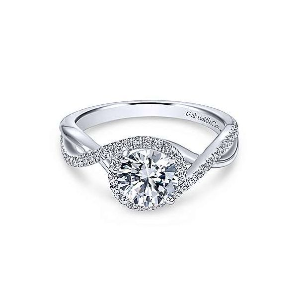 Gabriel & Co. Courtney 14K White Gold Engagement Ring SVS Fine Jewelry Oceanside, NY