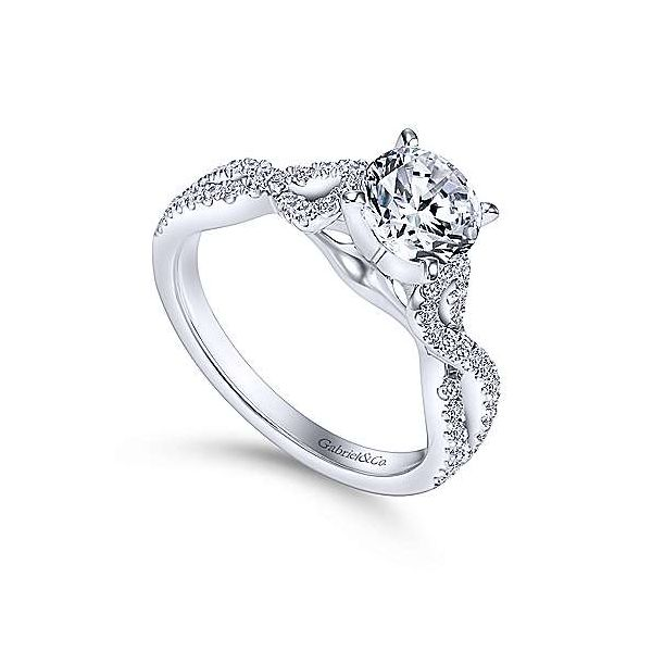 Gabriel & Co. Kayla 14K White Gold Engagement Ring Image 2 SVS Fine Jewelry Oceanside, NY