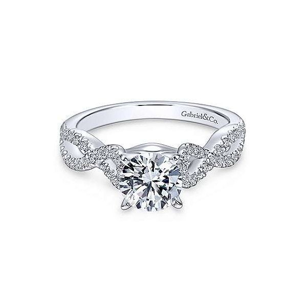 Gabriel & Co. Kayla 14K White Gold Engagement Ring SVS Fine Jewelry Oceanside, NY