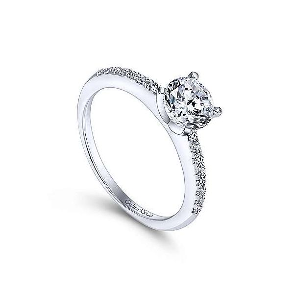 Gabriel & Co. Kelly 14K White Gold Engagement Ring Image 2 SVS Fine Jewelry Oceanside, NY