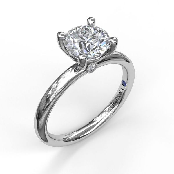 Fana 14K White Gold Solitaire Engagement Ring SVS Fine Jewelry Oceanside, NY