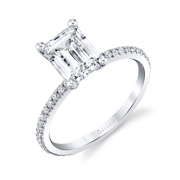 Sylvie Adorlee 14K White Gold Engagement Ring SVS Fine Jewelry Oceanside, NY
