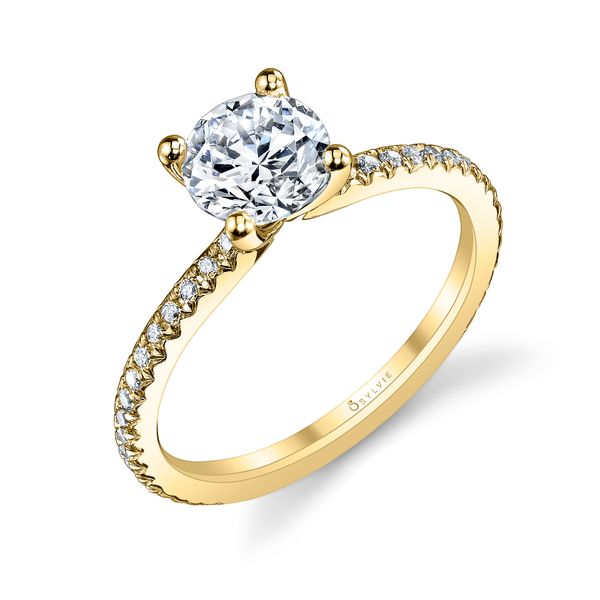 Sylvie Adorlee 14K Yellow Gold Engagement Ring SVS Fine Jewelry Oceanside, NY