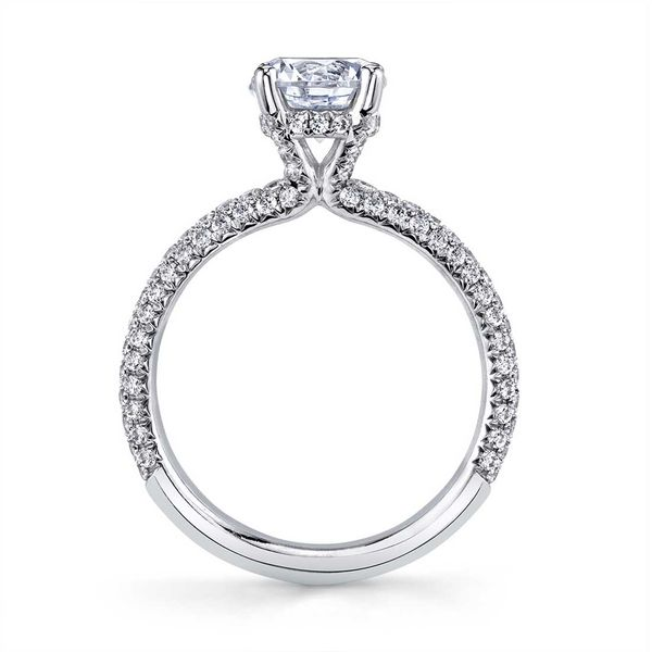 Sylvie Jayla 14K White Gold Engagement Ring Image 2 SVS Fine Jewelry Oceanside, NY