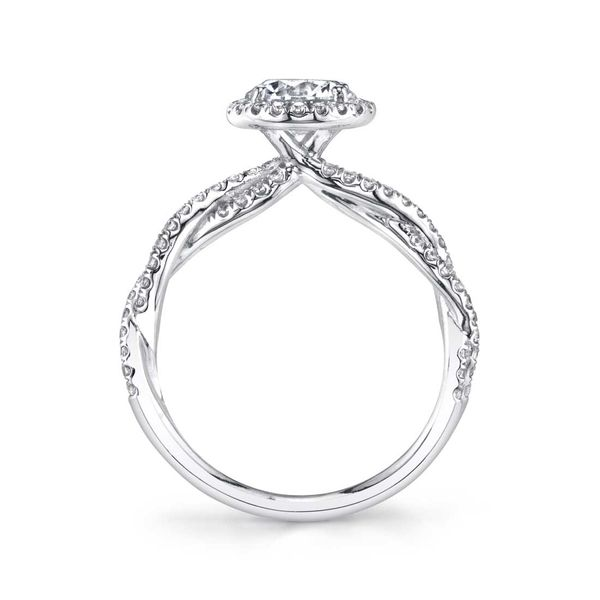 Sylvie Ava 14K White Gold Engagement Ring Image 2 SVS Fine Jewelry Oceanside, NY