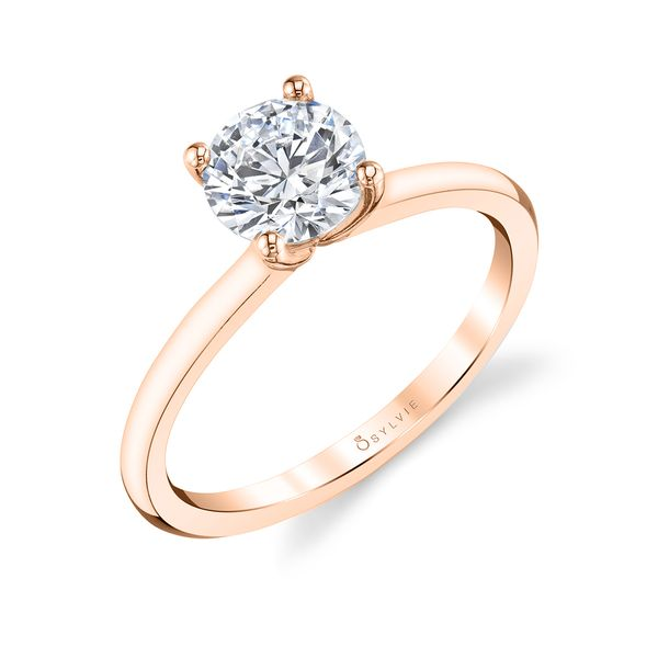 Sylvie 18K Rose Gold Engagement Ring, Size 6 SVS Fine Jewelry Oceanside, NY