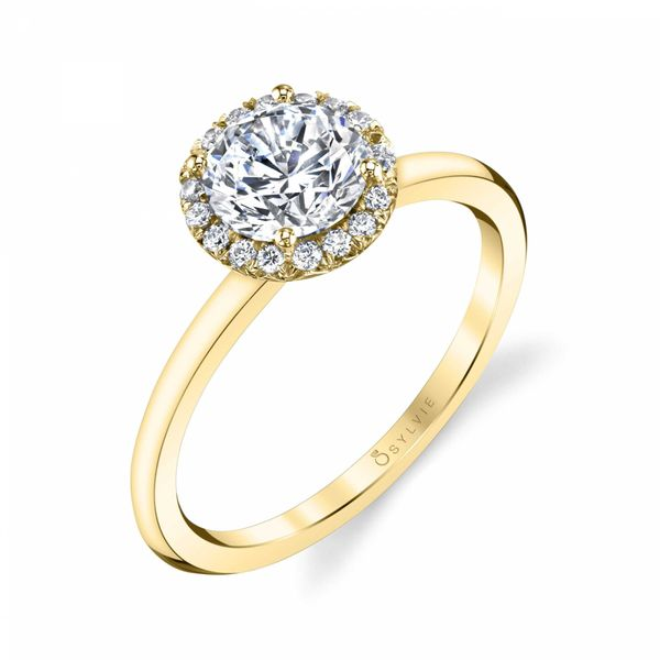 Sylvie Elsie 14K Yellow Gold Engagement Ring SVS Fine Jewelry Oceanside, NY
