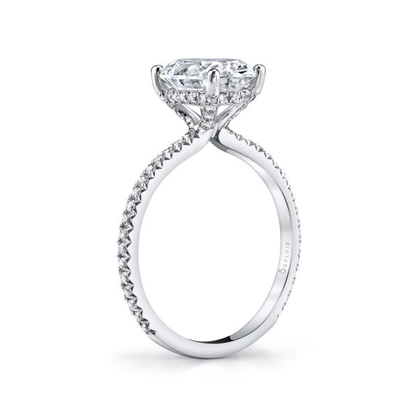 Sylvie Maryam 14K White Gold Engagement Ring Image 3 SVS Fine Jewelry Oceanside, NY