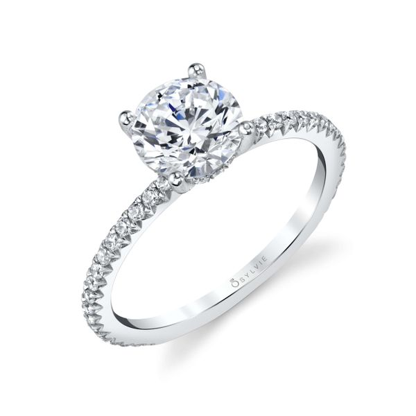 Sylvie Maryam 14K White Gold Engagement Ring SVS Fine Jewelry Oceanside, NY
