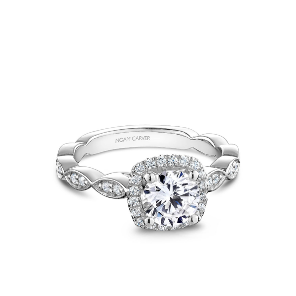 Noam Carver 14K White Gold & Diamond Engagement Ring SVS Fine Jewelry Oceanside, NY