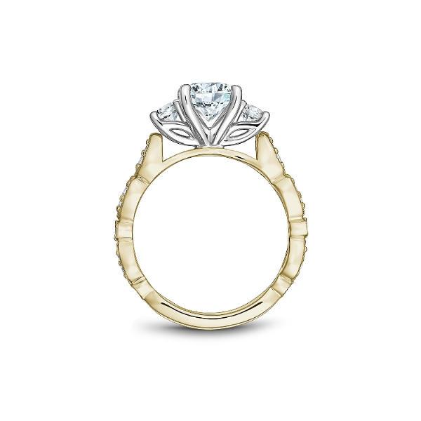 Noam Carver 14K White & Yellow Gold Engagement Ring Image 2 SVS Fine Jewelry Oceanside, NY