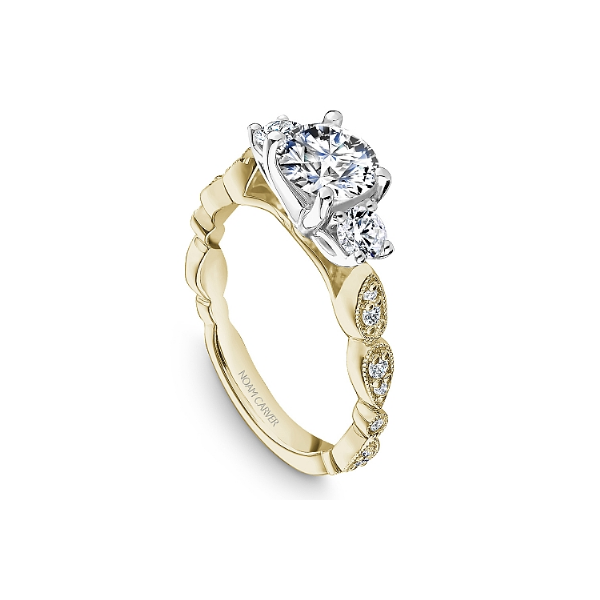 Noam Carver 14K White & Yellow Gold Engagement Ring Image 3 SVS Fine Jewelry Oceanside, NY